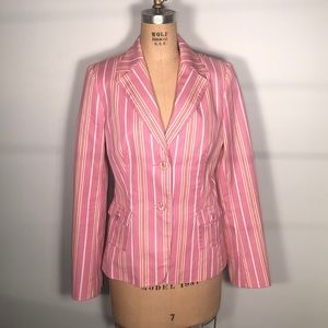 Laundry Candy Striped Sport Coat Blazer Jacket 10